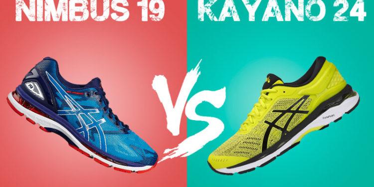 Nimbus 19 vs Kayano 24