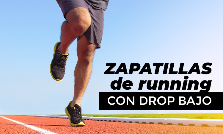 zapatillas running con drop bajo