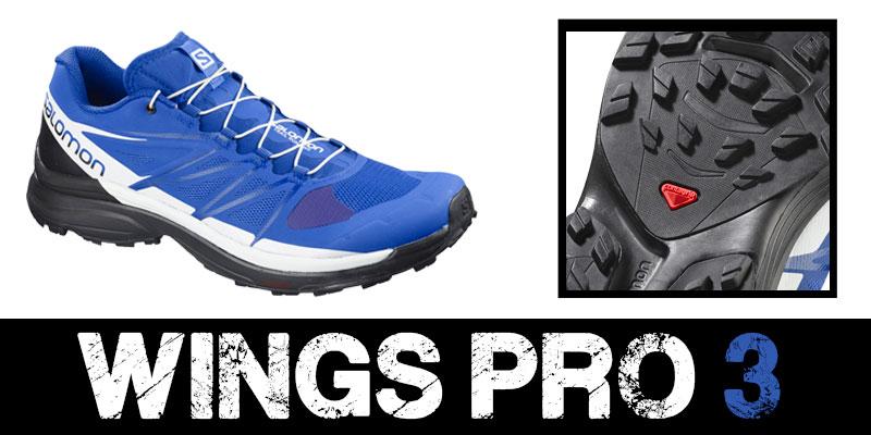 Zapatillas Salomon Wings Pro 3 Azul.