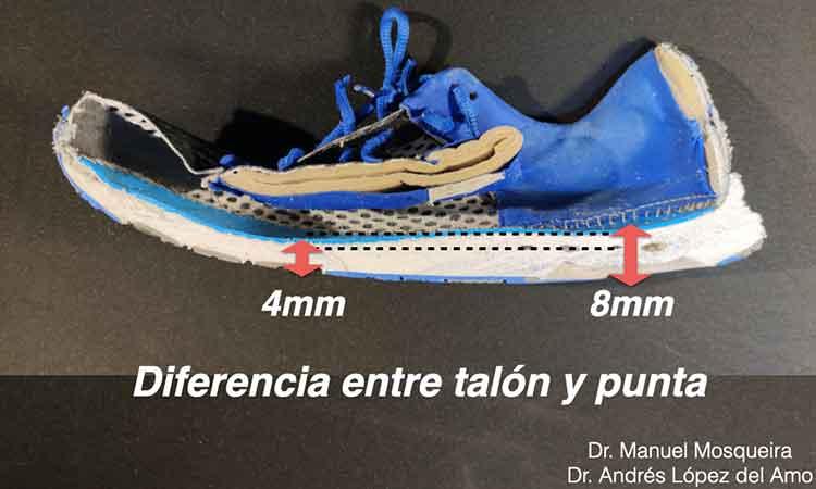 drop de las zapatillas