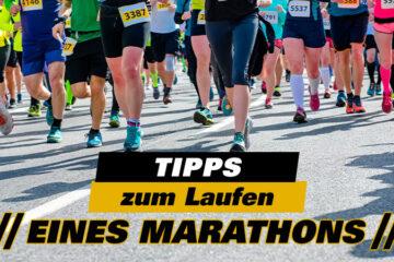 Einen Marathon laufen. Ratschlägen