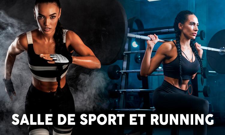 running et salle de sport