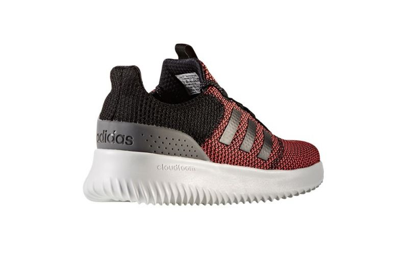 ADIDAS NEO CLOUDFOAM ULTIMATE BLACK RED