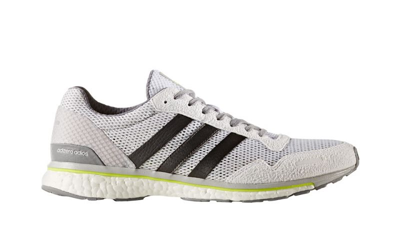 8c16225f4 ADIDAS ADIZERO ADIOS 3 WHITE- Mens running shoes