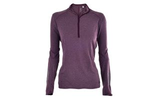adidas RS LS ZIP TEE W RED WOMEN SWEATSHIRT BQ3588