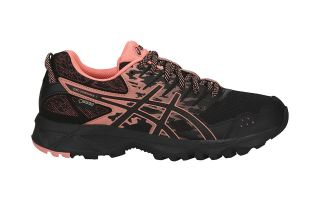 Asics GEL SONOMA 3 GTX MUJER NEGRO CORAL T777N 9006