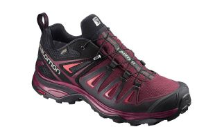 Salomon X ULTRA 3 GTX WOMENS TAWNY FUCHSIA BLACK L39868100