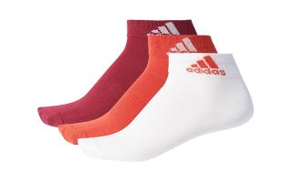 adidas PER ANKLE 3 PAIRS OF PURPLE WHITE RED SOCKS