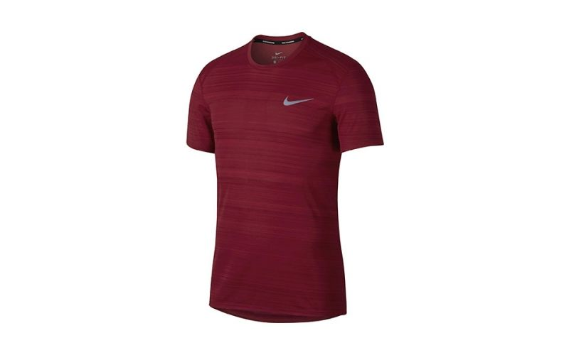Rojo Comodidad Running Para Nike Total Miler Dry Camiseta Correr qRAwYxq