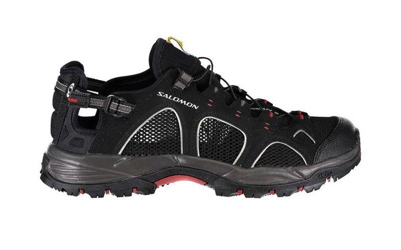 SALOMON TECHAMPHIBIAN 3 BLACK RED Trekking on offer New