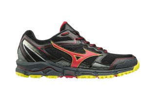 Mizuno WAVE DAICHI 3 BLACK RED YELLOW J1GJ187159