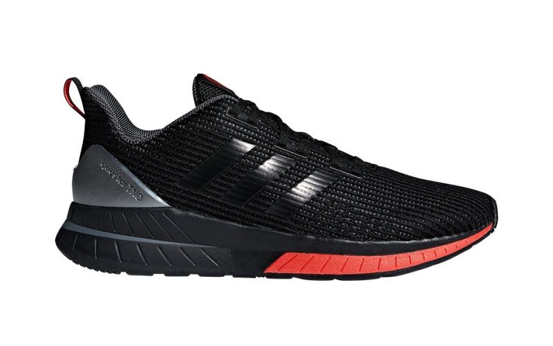 Adidas Red And Black Running Shoes