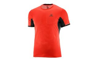 SALOMON CAMISETA AGILE PLUS SS TEE ROJO 401162