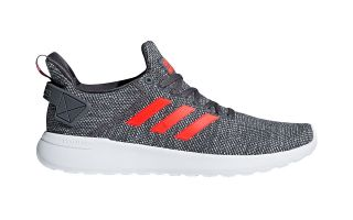 adidas neo CLOUDFOAM LITE RACER BYD GREY RED DB1600