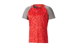 Mizuno T-SHIRT AERO TEE RED GREY J2GA800260