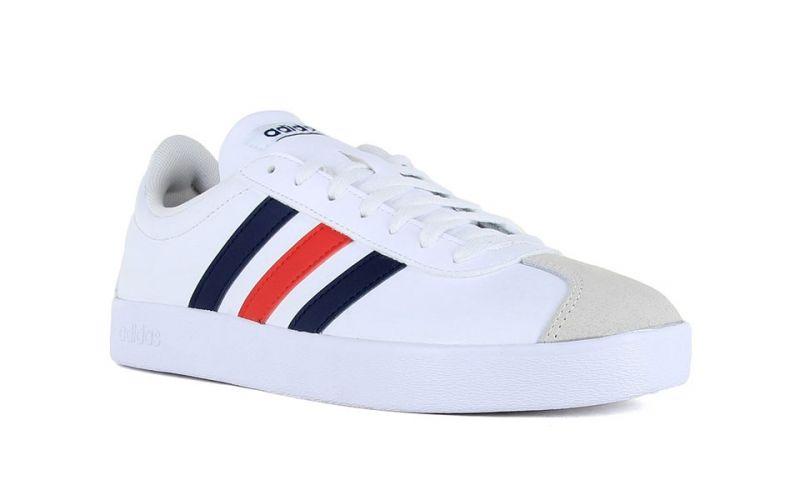 adidas neo VL Court 2.0 Blanc Bleu Marine Rouge - Augmentez votre ...