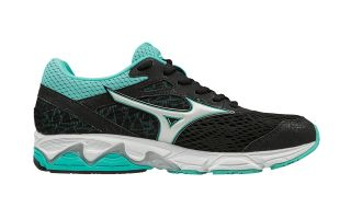 MIZUNO WAVE EQUATE 2 MUJER NEGRO BLANCO TURQUESA J1GD184801