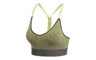adidas SUJETADOR ALL ME SEAMLESS HEATHER GRIS VERDE CD8373