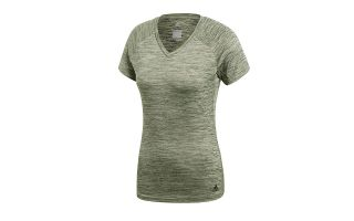 adidas FREELIFT FITTED ARMY GREEN WOMEN SHIRT