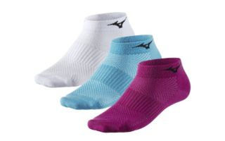 Mizuno CALCETINES RUN SOCK 6 PACK LILA BLANCO CELESTE 67XUU95069