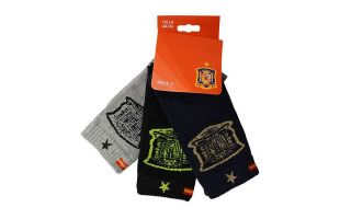 JIM SPORT PACK 3 PAIRS OF SOCKS CANA ALTA SELECCI�N ESPANOLA TRICOLOR