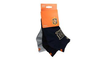 JIM SPORT PACK 3 PAIRS OF ANKLE SOCKS SPANISH SELECTION VARIOUS COLORS