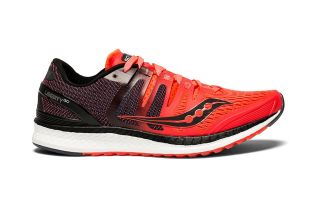 Saucony LIBERTY ISO BLACK RED WOMEN S10410-2