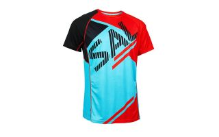 Salming BOLD PRINT TEE BLUE BLACK RED SHIRT 1278666-3708