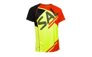 Salming BOLD PRINT TEE RED YELLOW 1278666-0908