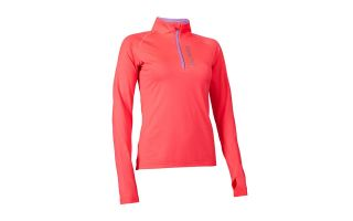 Salming HALFZIP LONG SLEEVE TEE PINK WOMEN SWEATSHIRT 1278323-5252