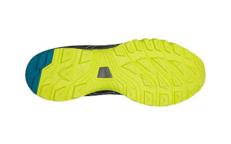 zapatillas asics gel-sonoma 3 negro gris verde y rojo