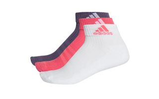 adidas 3S PER AN HC 3 PAIRS OF BLACK WHITE RED SOCKS