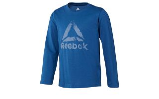Reebok CAMISETA MANGA LARGA TRAINING ESSENTIALS NIÑO AZUL