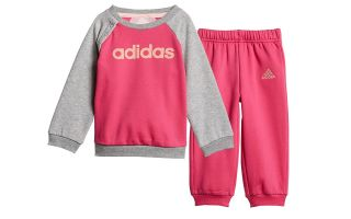 adidas I LIN JOGG FL PINK GREY BABY TRACKSUIT
