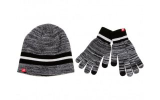 New Balance PACK GORRO Y GUANTES NEGRO BLANCO