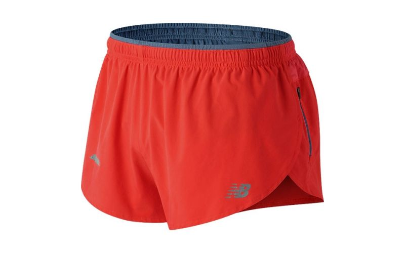 Campeonato pedir Cósmico  New Balance Impact Split 3 Inch red shorts - Top quality
