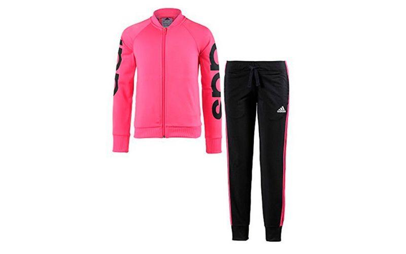 Plisado grande Amarillento  Chándal adidas PES Negro Rosa Niña - Chándal de niña marca adidas