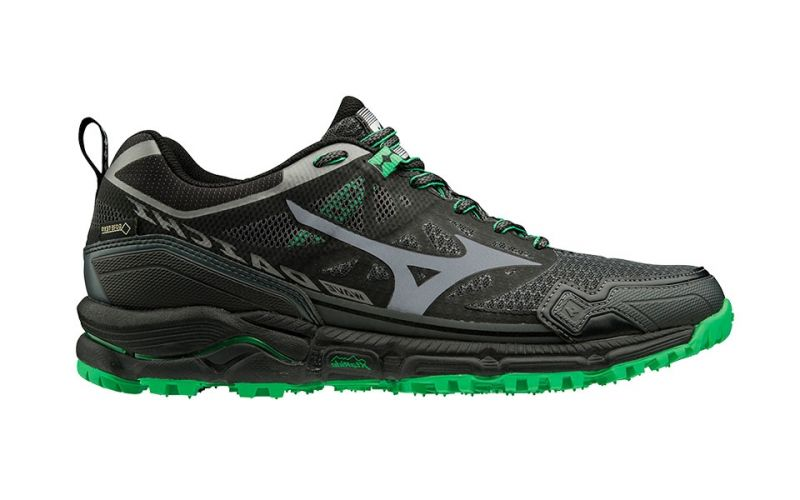 183a0f25b829 Mizuno Wave Daichi 4 Gtx Black Green - More shock absorption