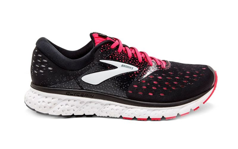 9095223008bc5 Brooks Glycerin 16 Women Black Pink - Dynamism and durability