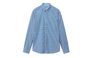 Napapijri GIULIAN BLUE WHITE LONG-SLEEVED SHIRT