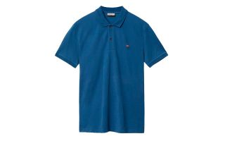 Napapijri ELIOS DARK DENIM POLO SHIRT N0YINZBD1