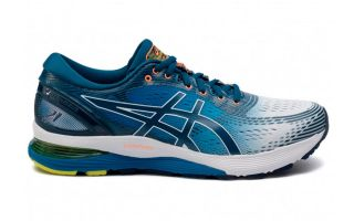 Asics GEL NIMBUS 21 BLUE WHITE 1011A714 100