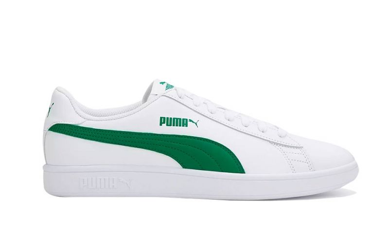 Puma Smash V2 L White Green - Resistant
