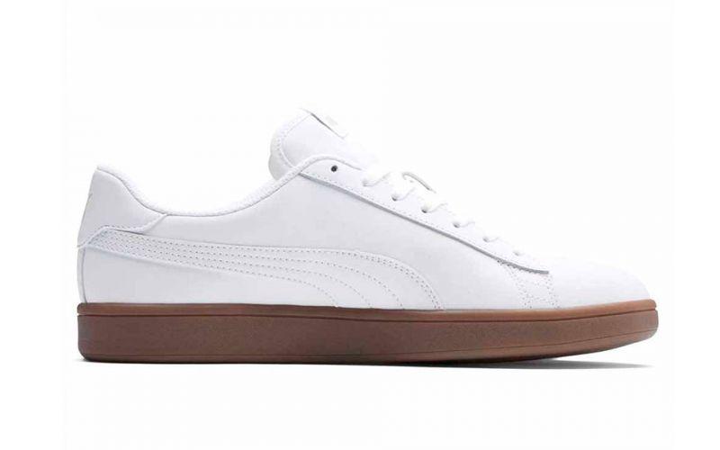 a325551fe1b4 Puma Smash V2 L White Brown - Design and comfort