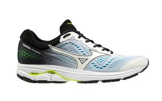 Mizuno WAVE RIDER 22 WHITE BLACK BLUE J1GC1837 01