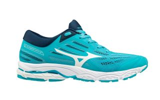 Mizuno WAVE STREAM 2 BLUE WHITE WOMEN J1GD1919 01