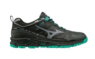 MIZUNO WAVE DAICHI 4 GTX BLACK GREEN WOMEN J1GK1956 34