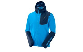 Salomon BONATTI PRO WP TURQUOISE AND NAVY BLUE JACKET