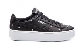Puma VIKKY STACKED STUDS BLACK WHITE WOMEN