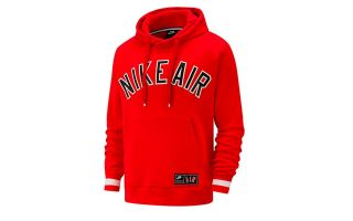 Nike SUDADERA AIR PULLOVER FLEECE ROJO